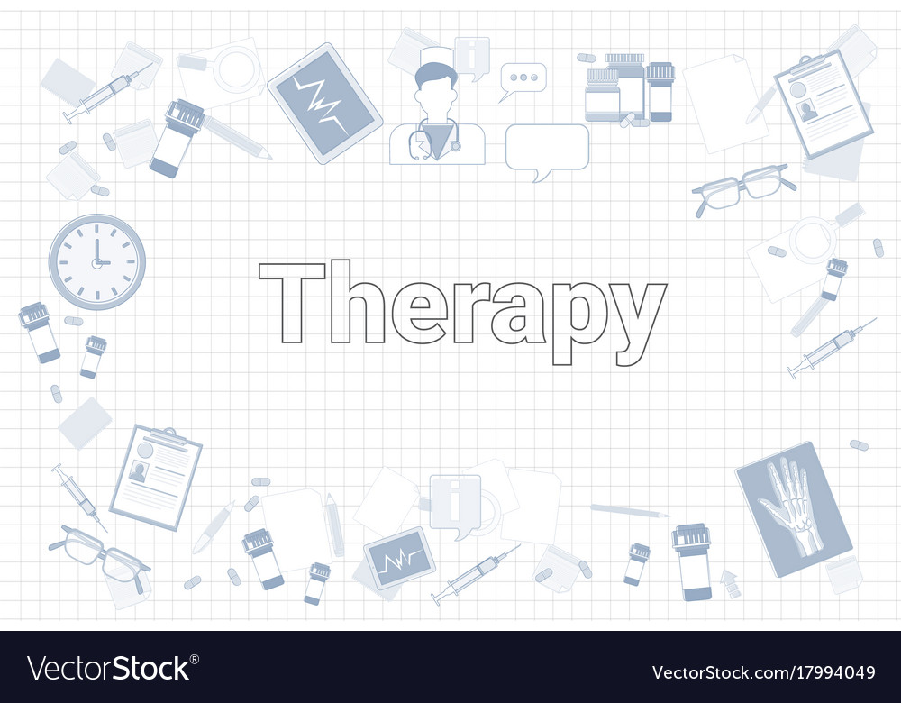 Therapy stuff on squared notebook paper background therapy stuff on squared notebook paper background vector image altavistaventures Gallery