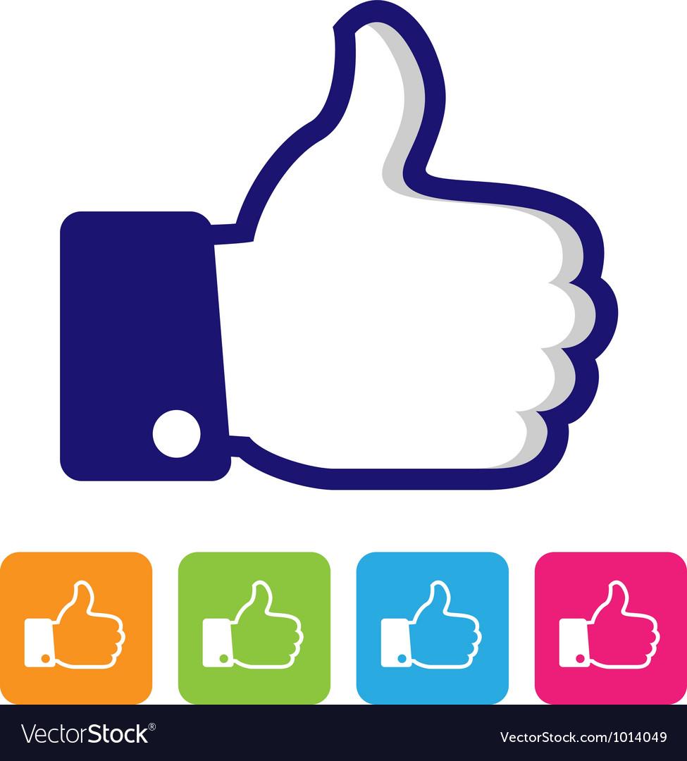 Thumbs up like symbol Royalty Free Vector ImageThumbs Up Symbol