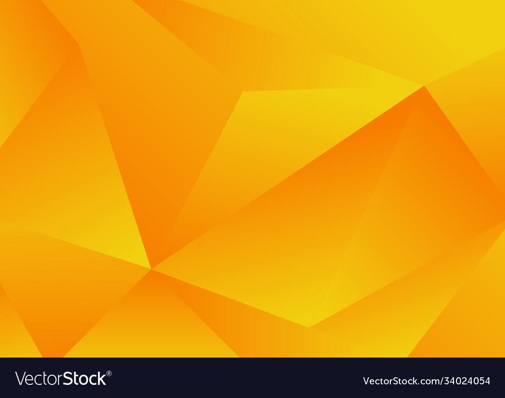 Abstract yellow geometric low polygon background