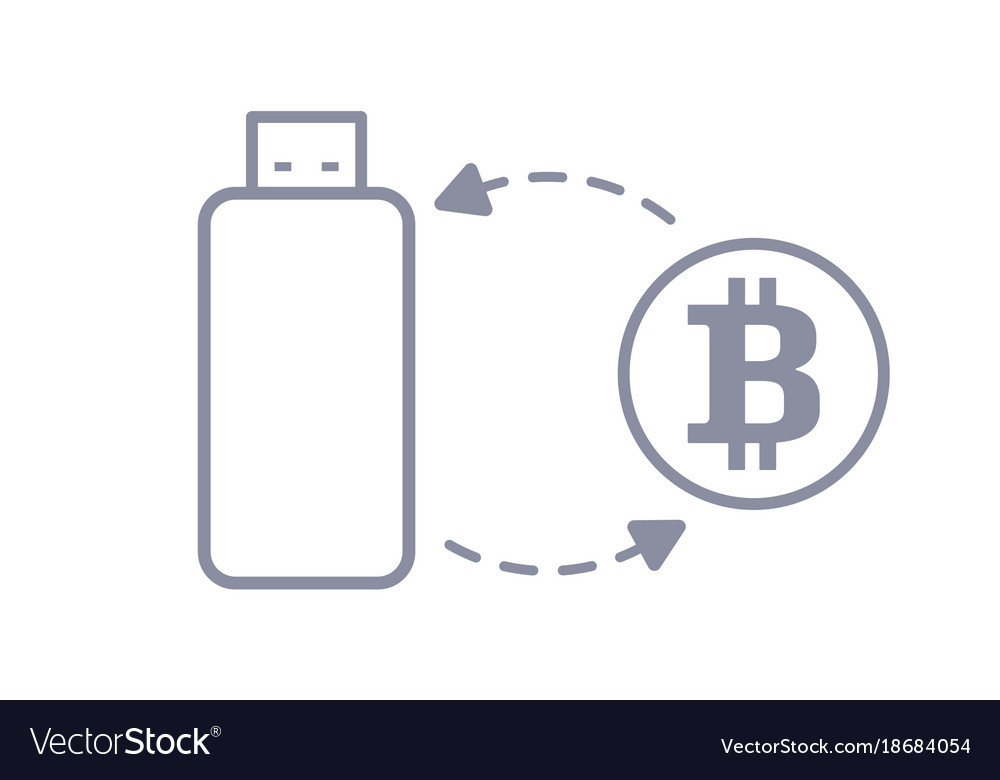 Bitcoin flash drive sync and storage line style