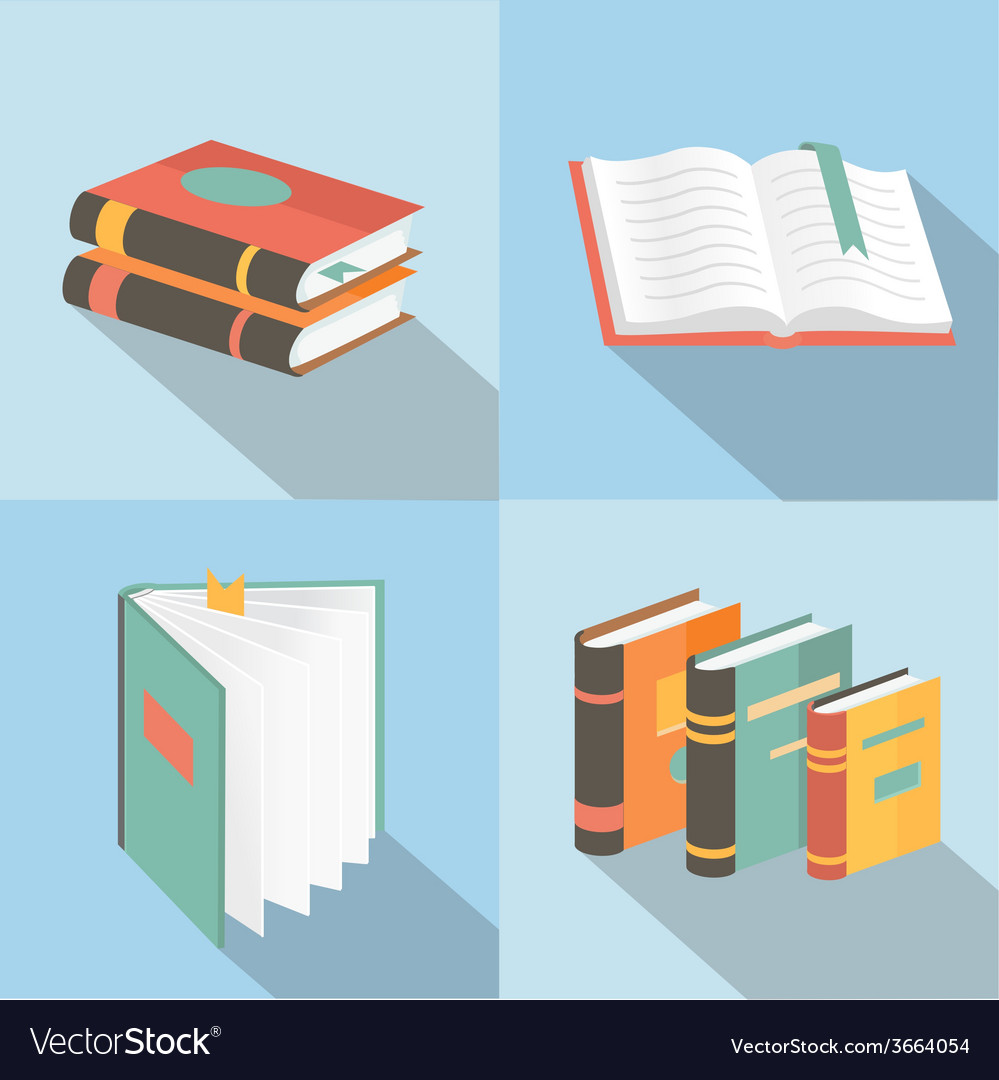Book signs and symbols - education concepts in