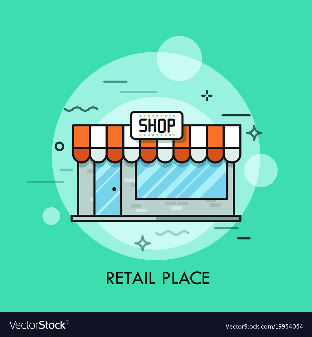 Concept of retail place convenience store vector image