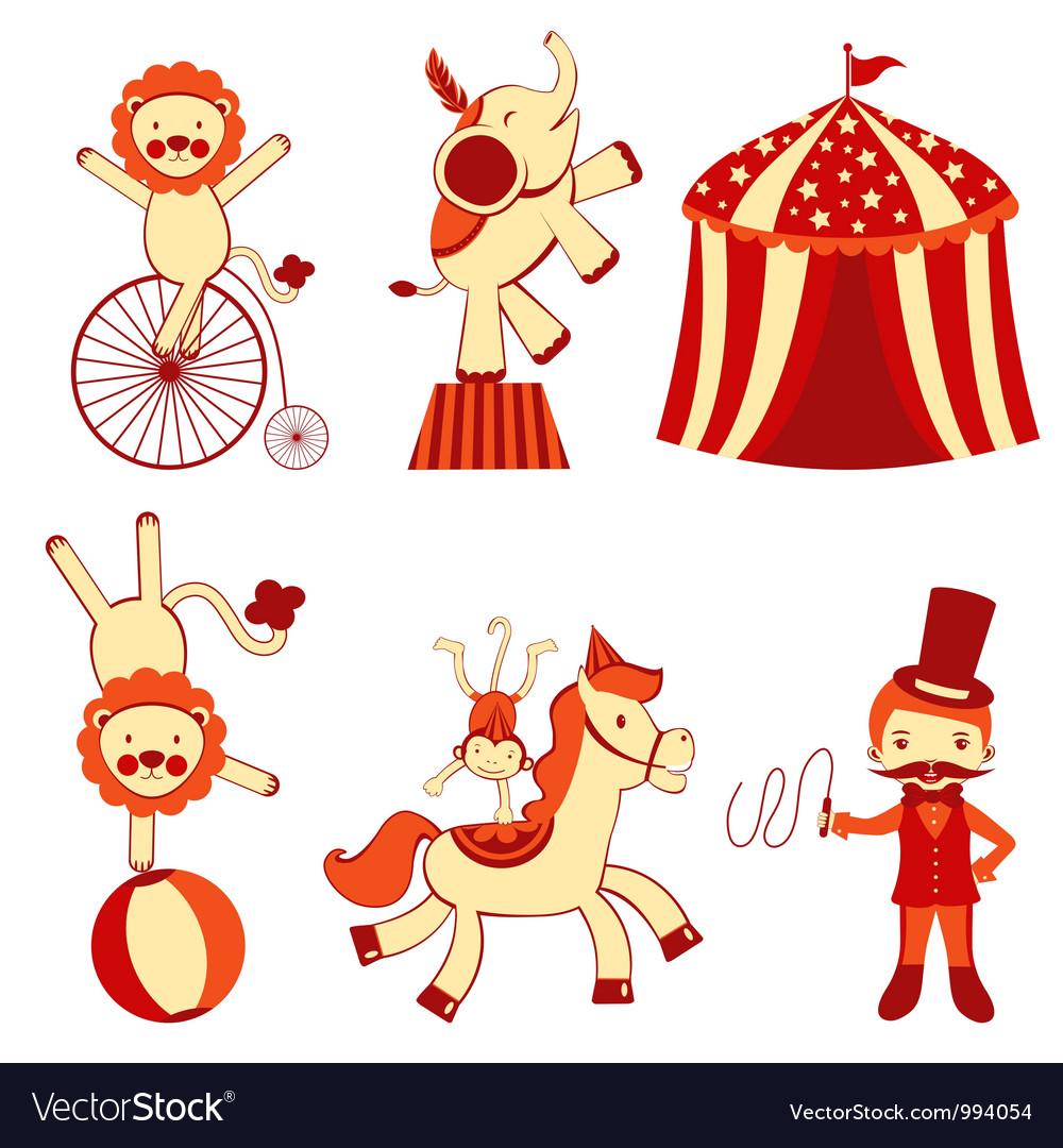 cute circus royalty free vector image vectorstock rh vectorstock com circle vector art cirque victory park
