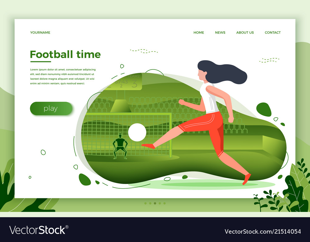 Girl football player