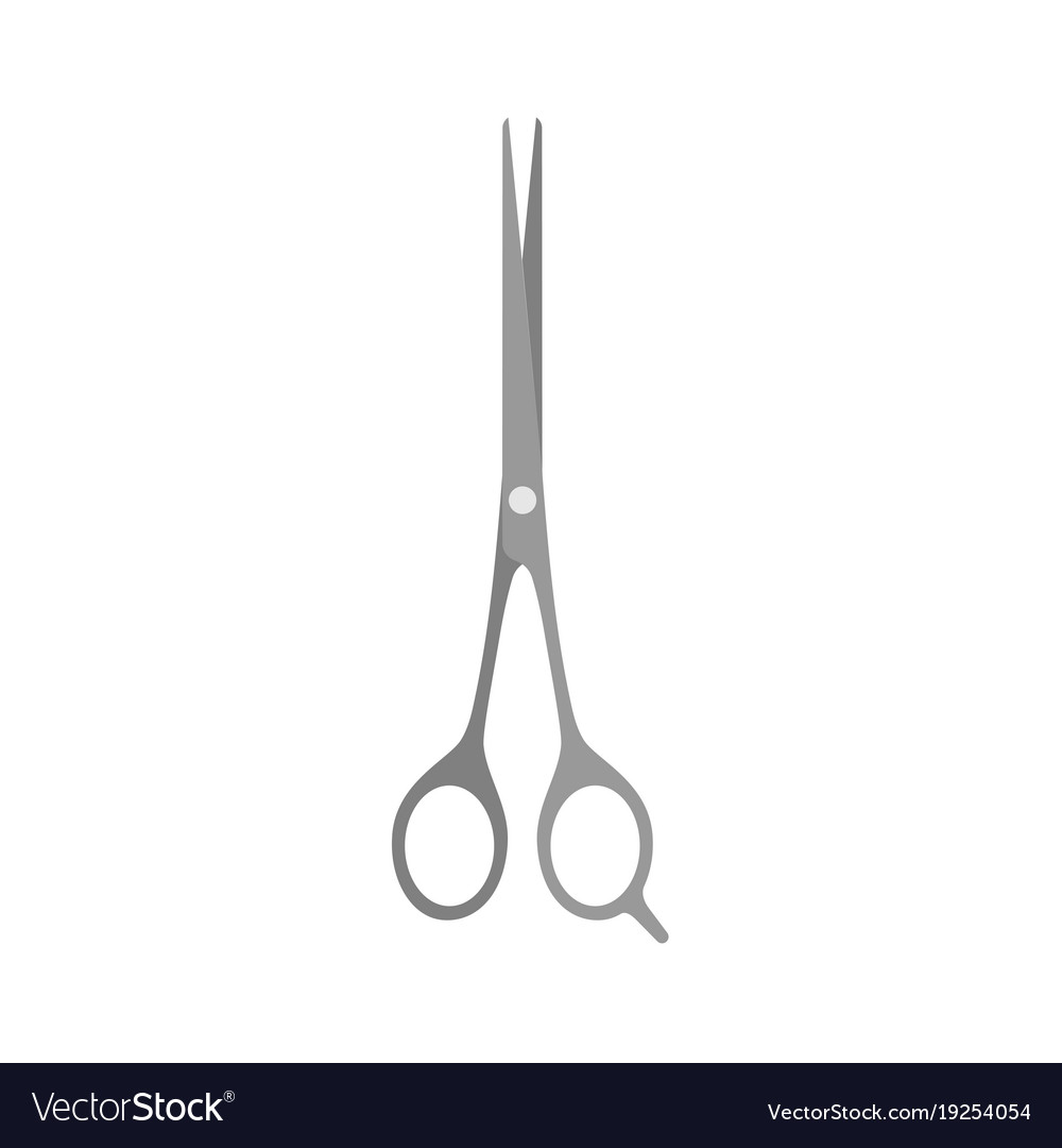Hair scissors cut barber cutting salon icon