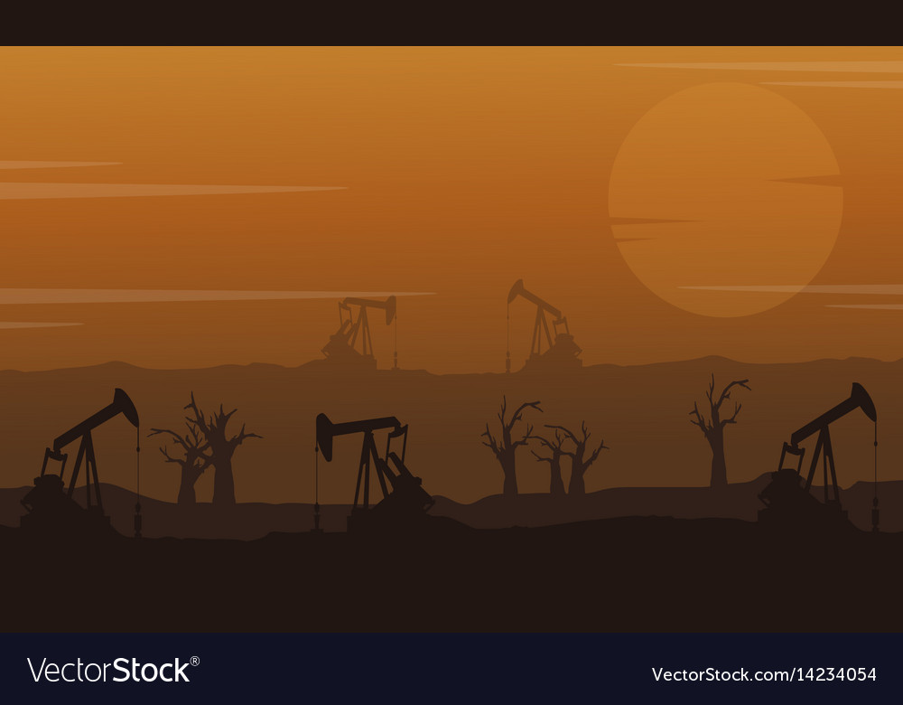Landscape clean forest for industry vector image