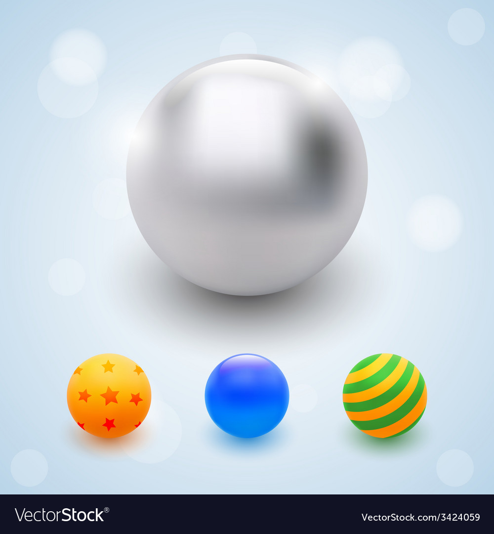 Abstract multicolored balls celebrate beads