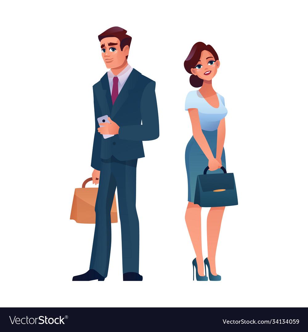 Business people stylish mature man and woman