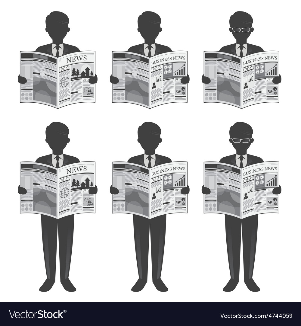 Businessman Read Newspaper vector image