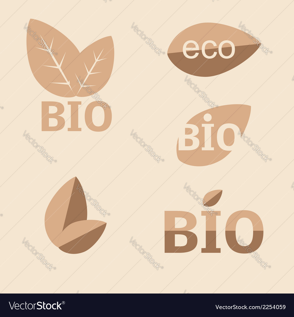 Ecology organic icon set Eco-icons