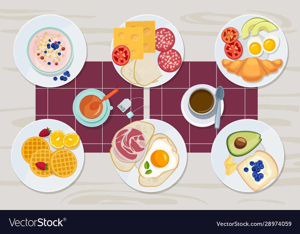 Healthy breakfast food daily menu cheese biscuits