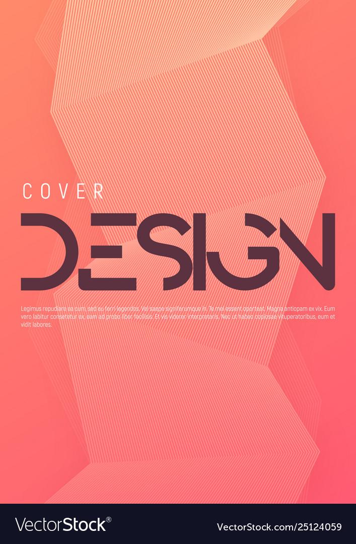 Minimalist gradient geometric cover design