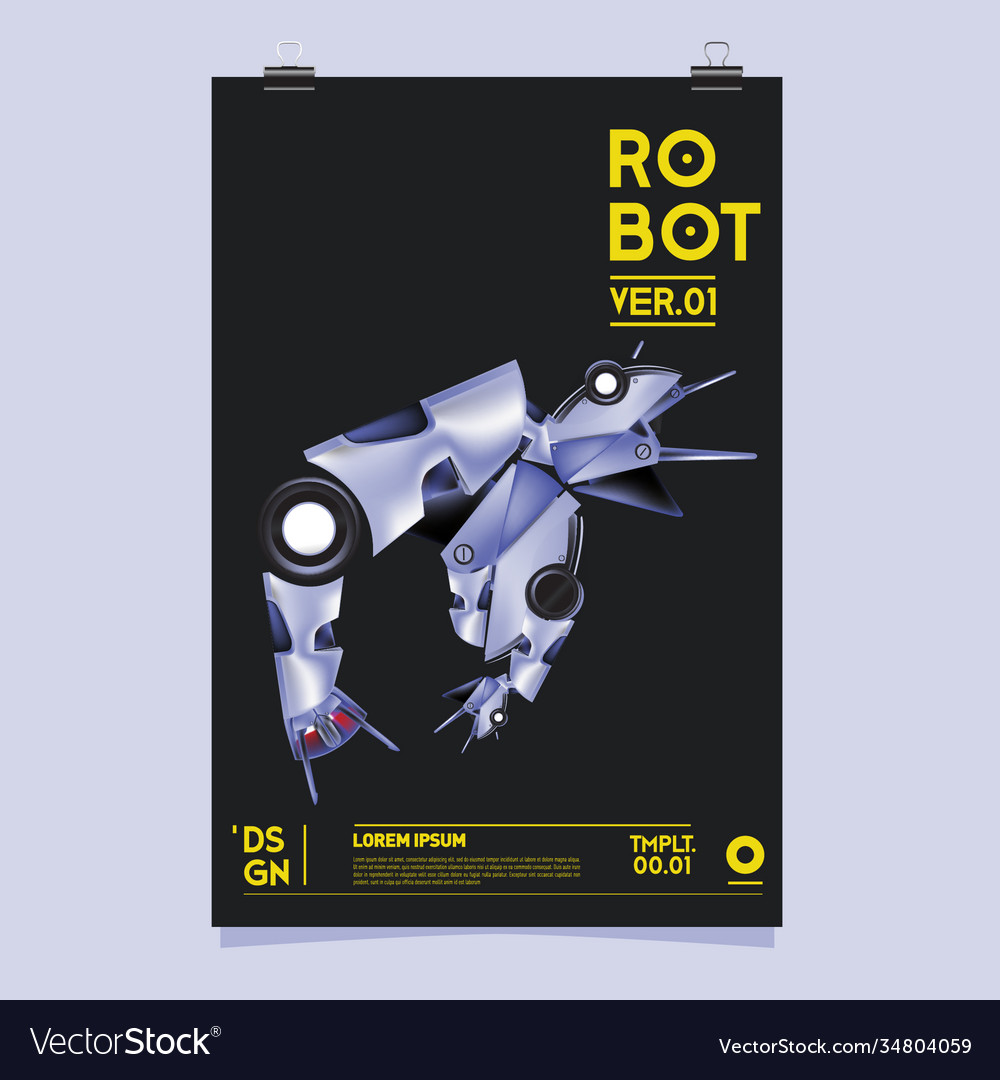 Realistic robot robot and toys design festival