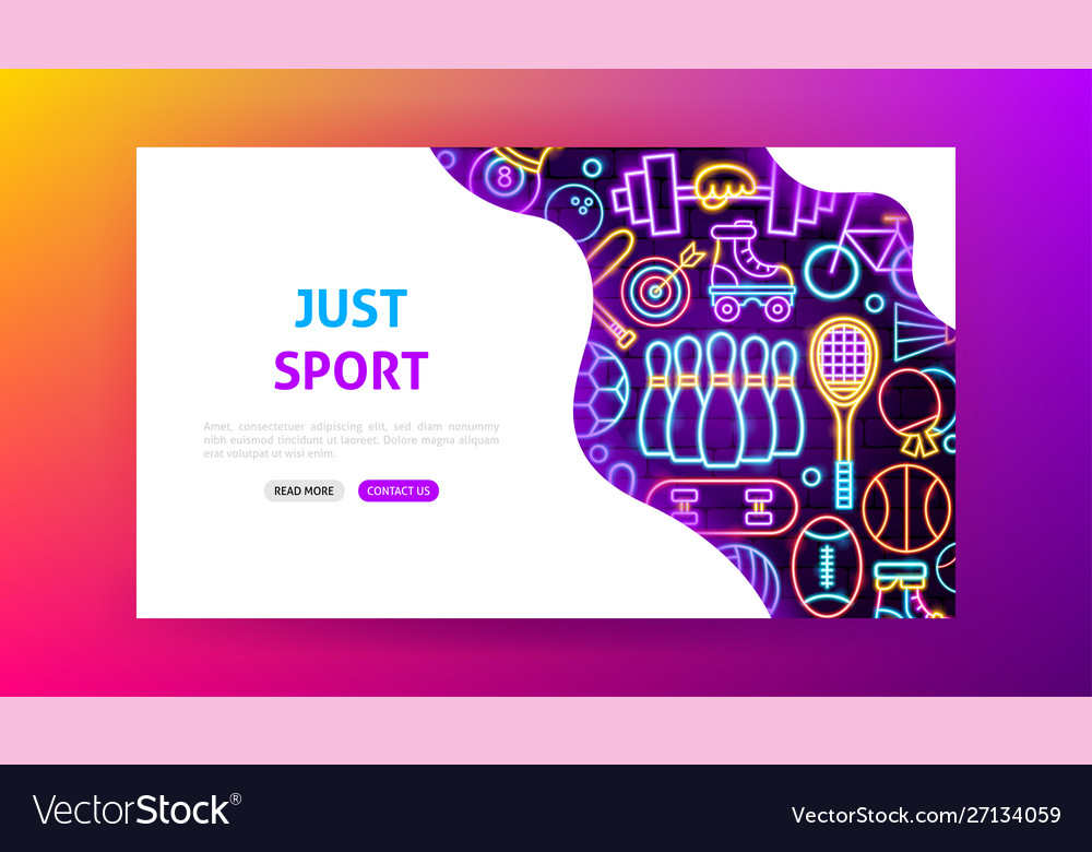 Sport neon landing page