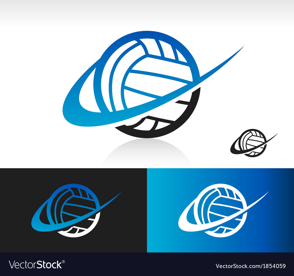 3944e1c13bed1 Swoosh Volleyball Logo Icon Royalty Free Vector Image