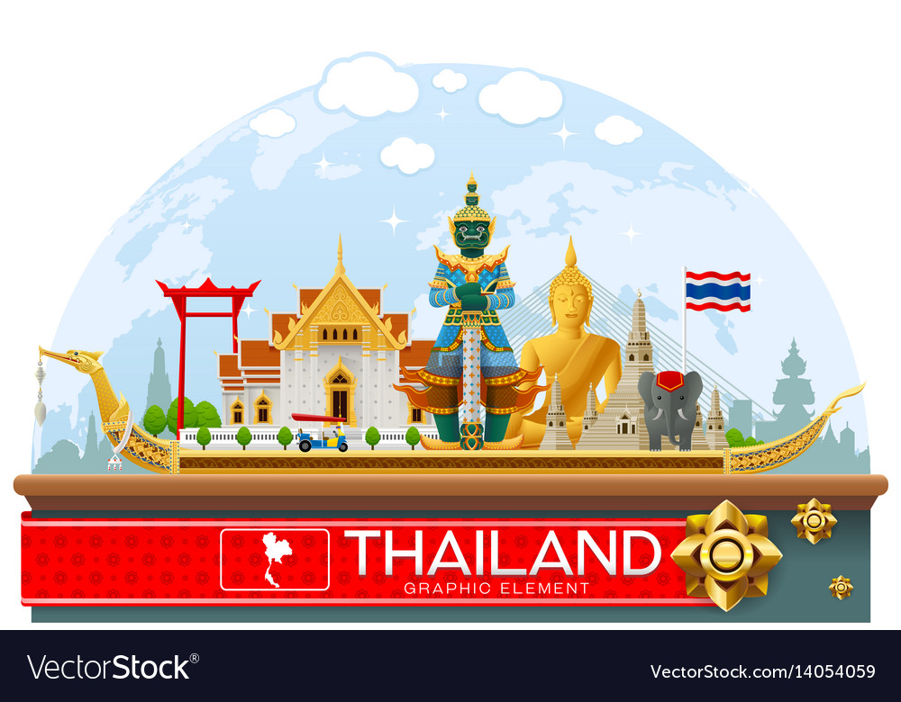 Thailand thailand landmark and art background