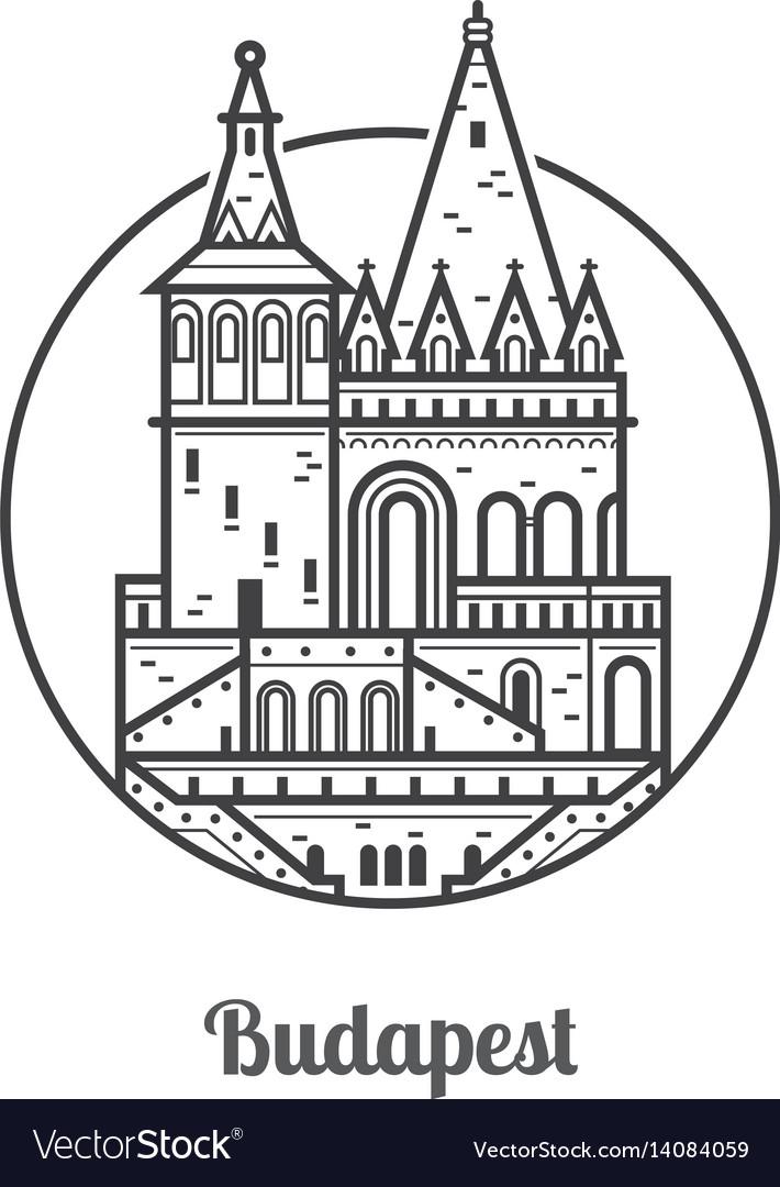 Travel budapest icon
