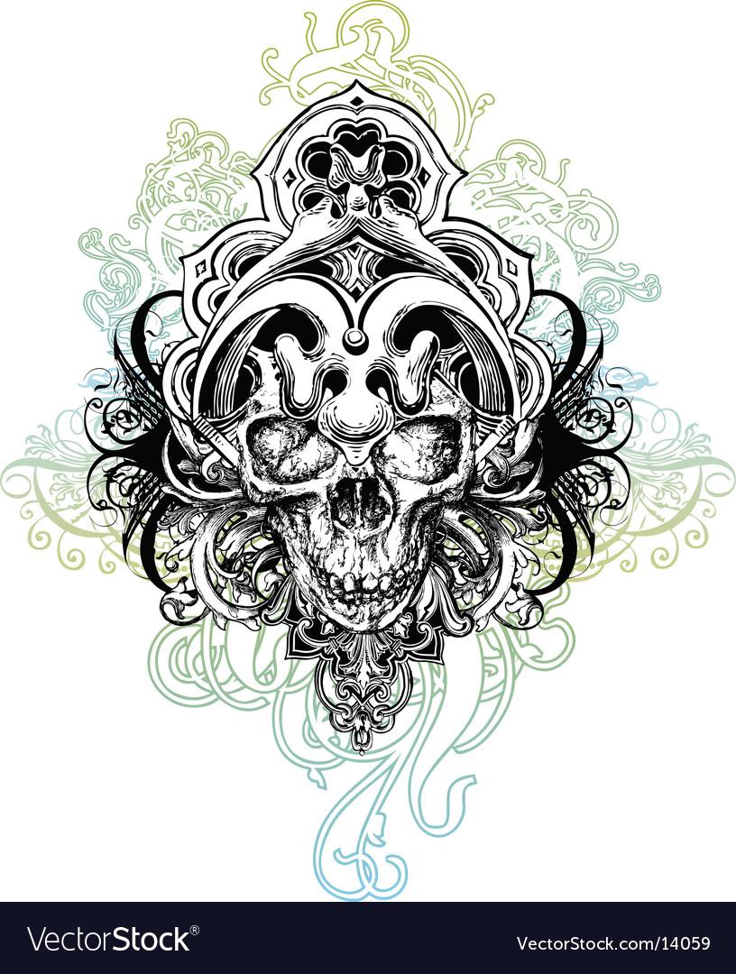 Warrior skull illustration vector image