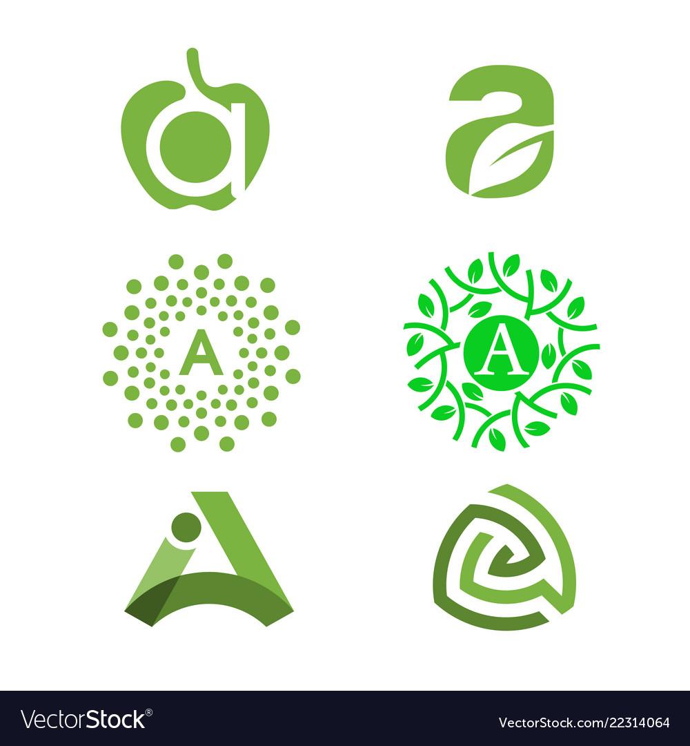 A letter logo design template