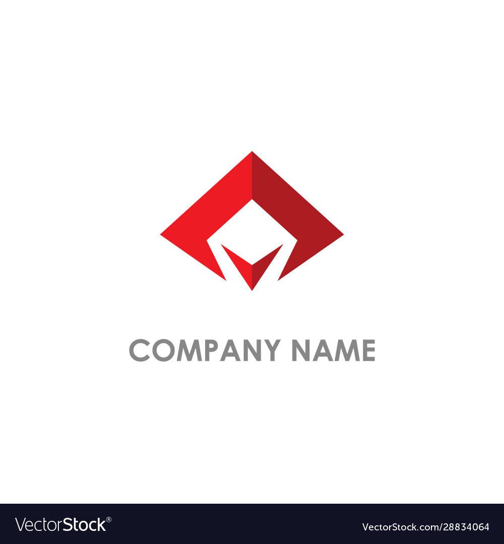 Abstract triangle company logo