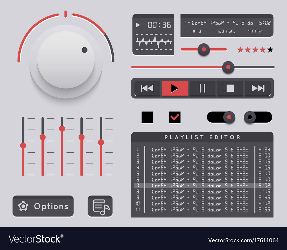 Audio player template
