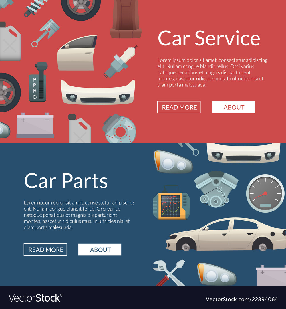 Car parts web banner templates