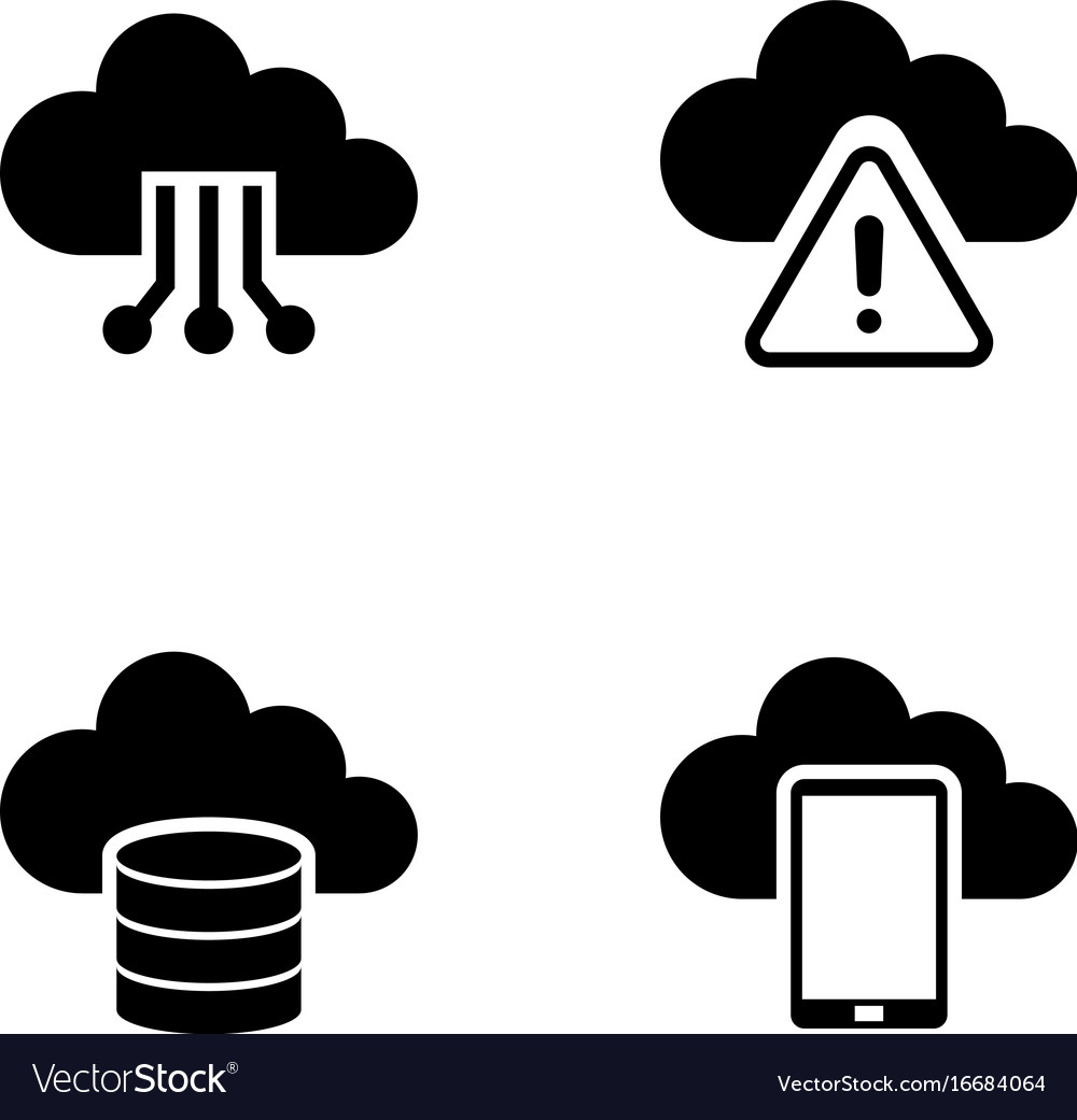 Cloud settings simple related icons