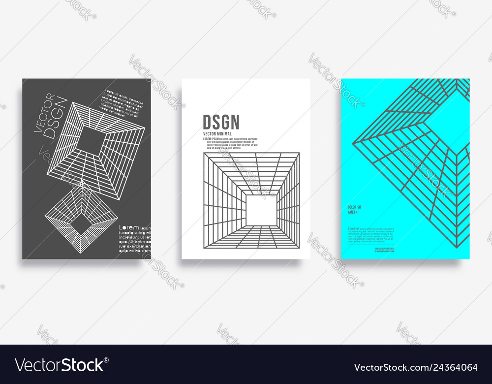 Cover with geometric minimal design for banner