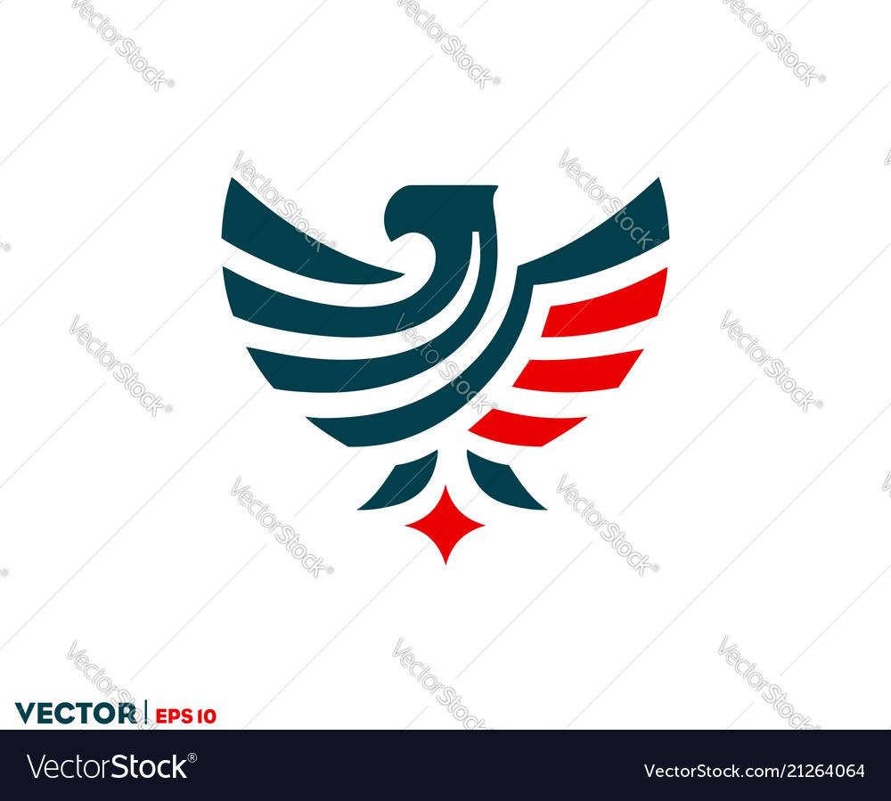 Eagle flag logo vector image