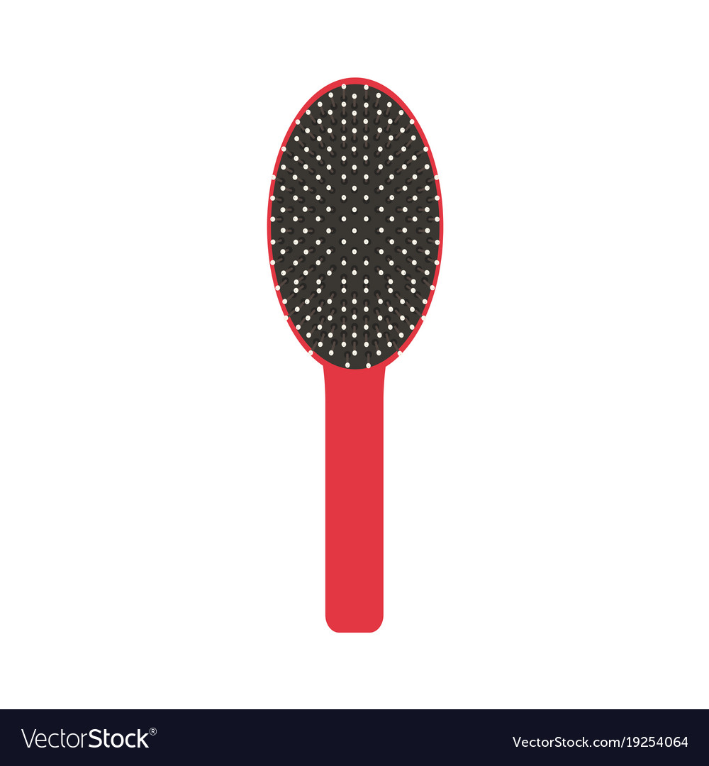 Hair brush icon comb isolated salon beauty