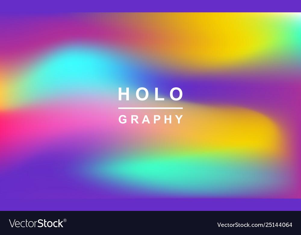 Holographic retro 80s 90s futuristic cover