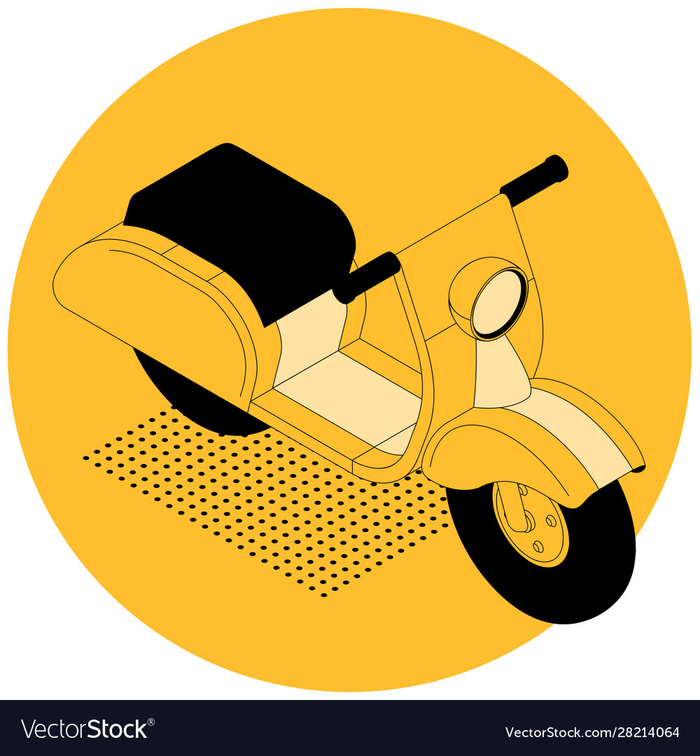 Isometric electric scooter