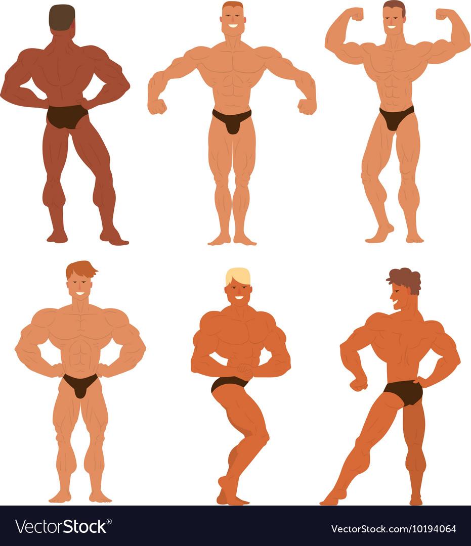Mens physics bodybuilders