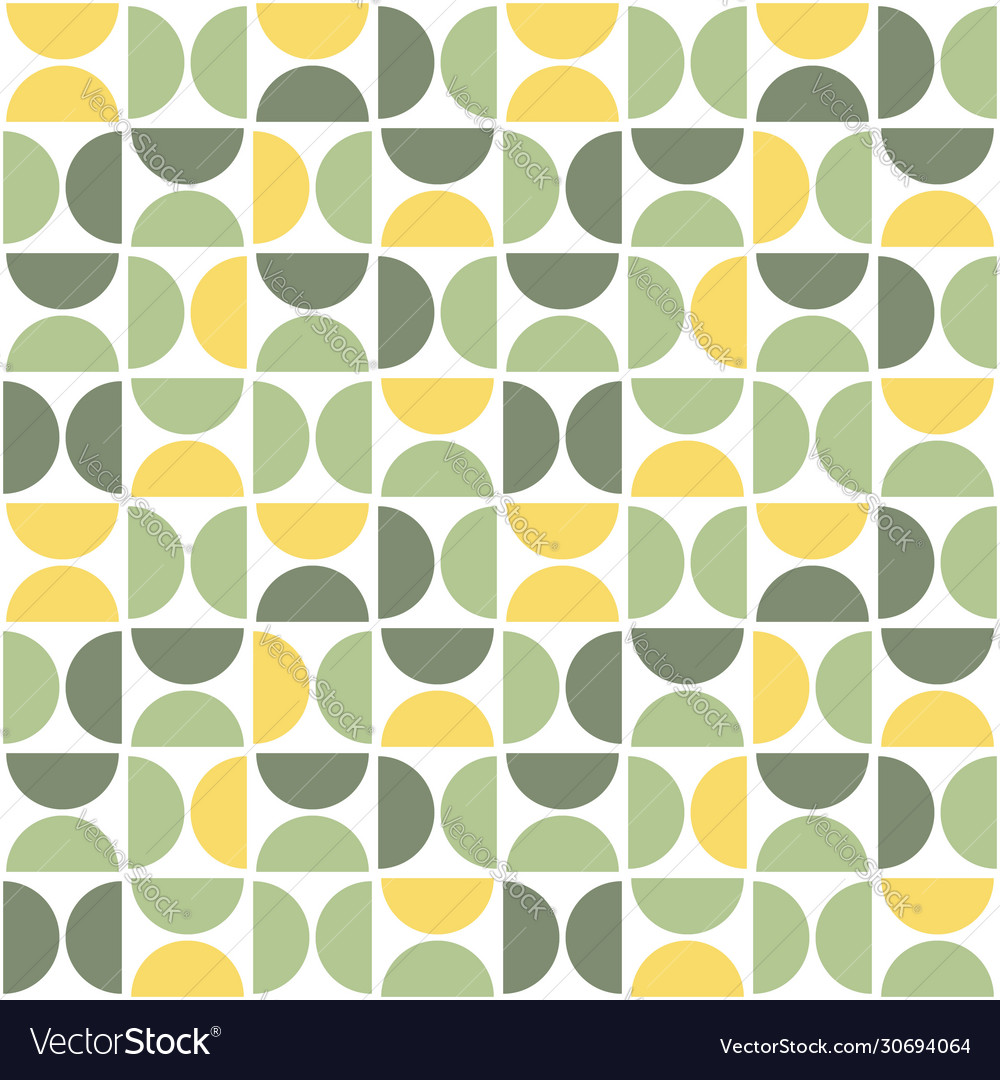 Seamless pattern with semicircles mid century