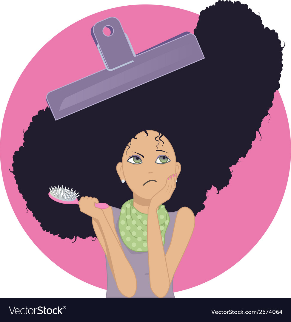 Unmanageable Frizzy Hair Royalty Free Vector Image