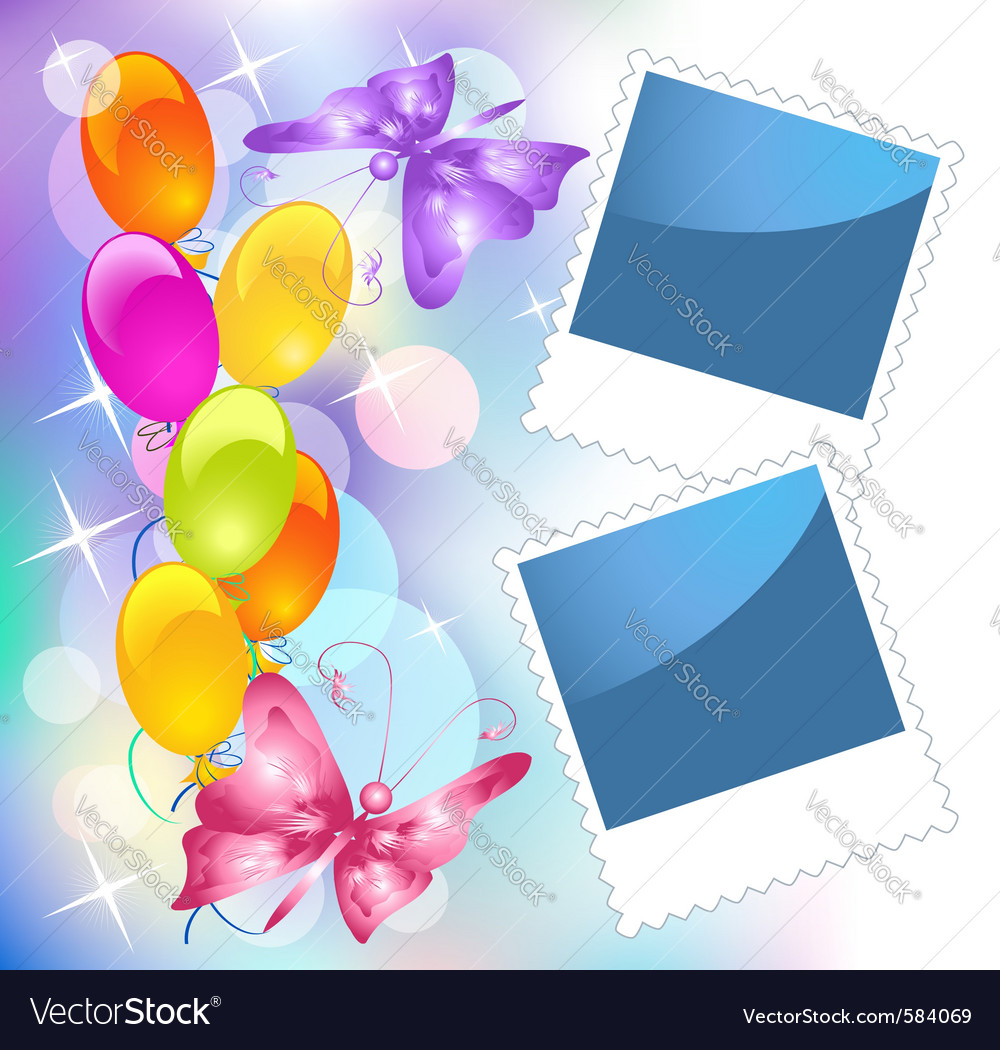 Birthday Frames Royalty Free Vector Image Vectorstock