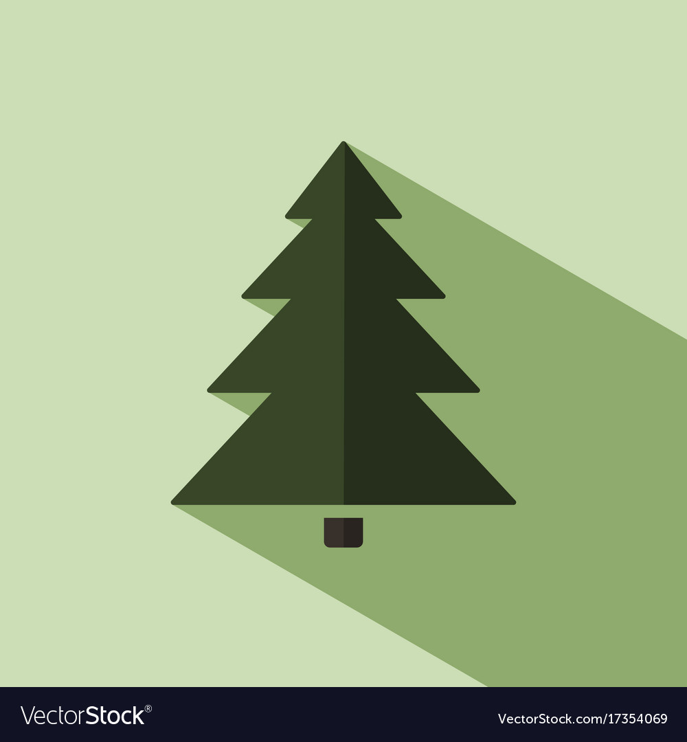 Christmas tree icon with shade