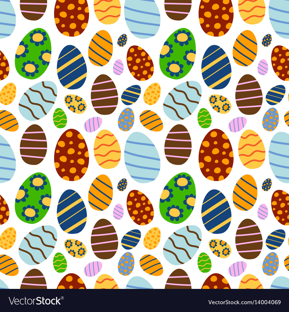 Easter seamless pattern background retro vintage