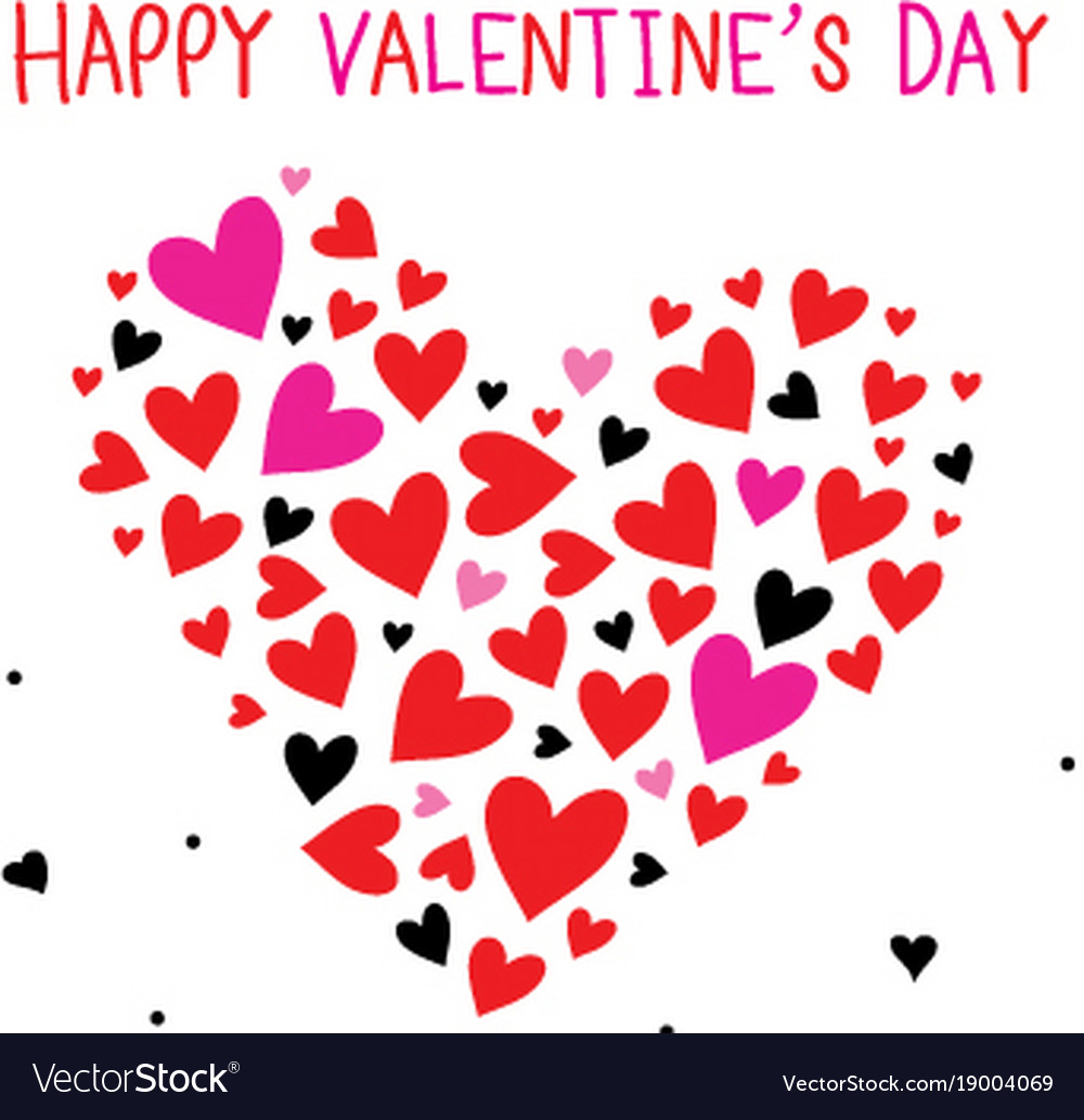Happy Valentine Day Sweetheart Cartoon Royalty Free Vector