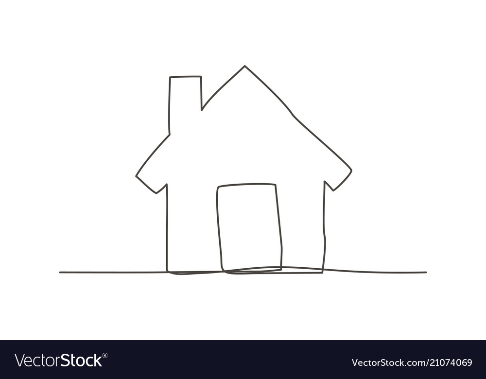 Home one line drawing