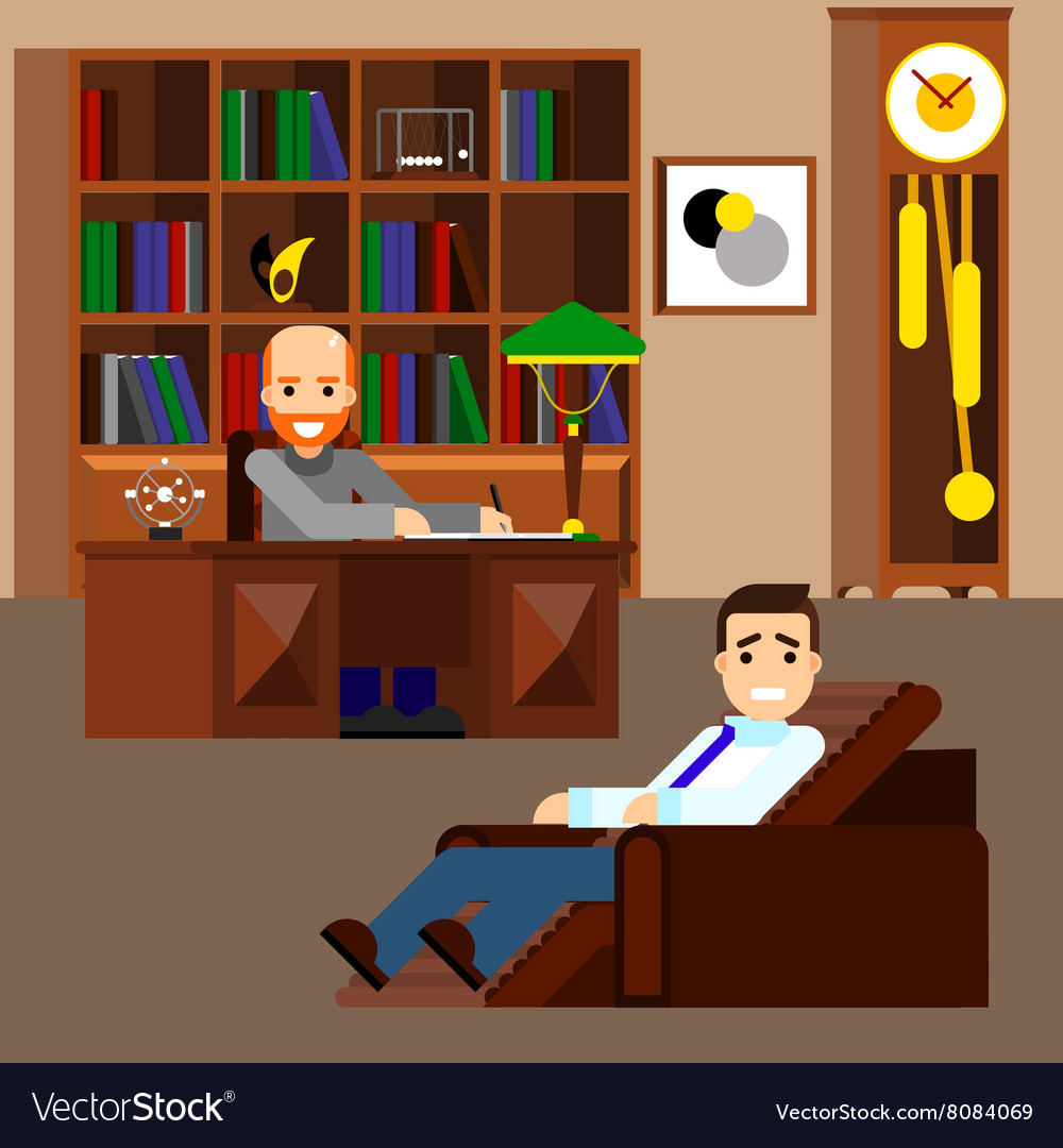 Psychologist concept flat isolated