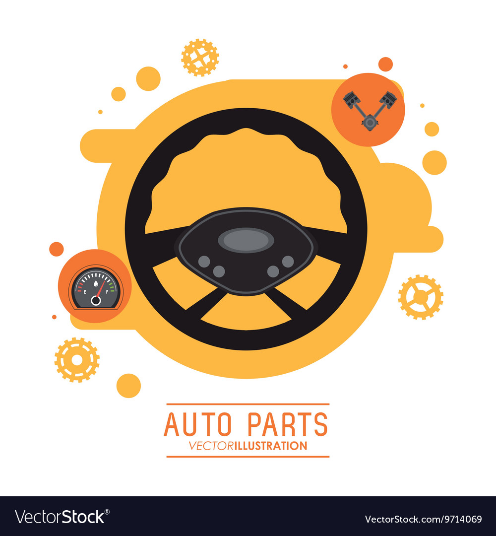 Rudder icon Auto part design graphic