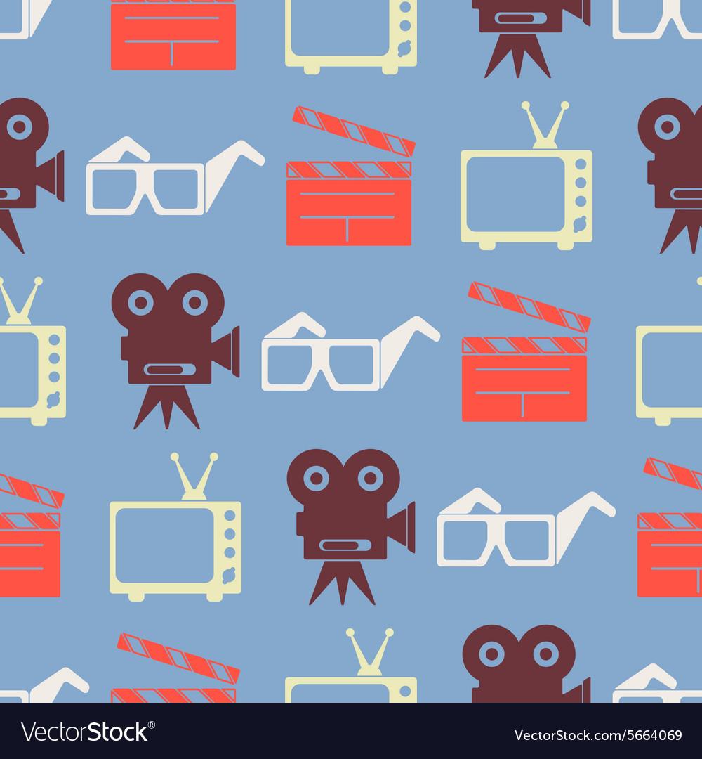 Seamless background with cinema symbols