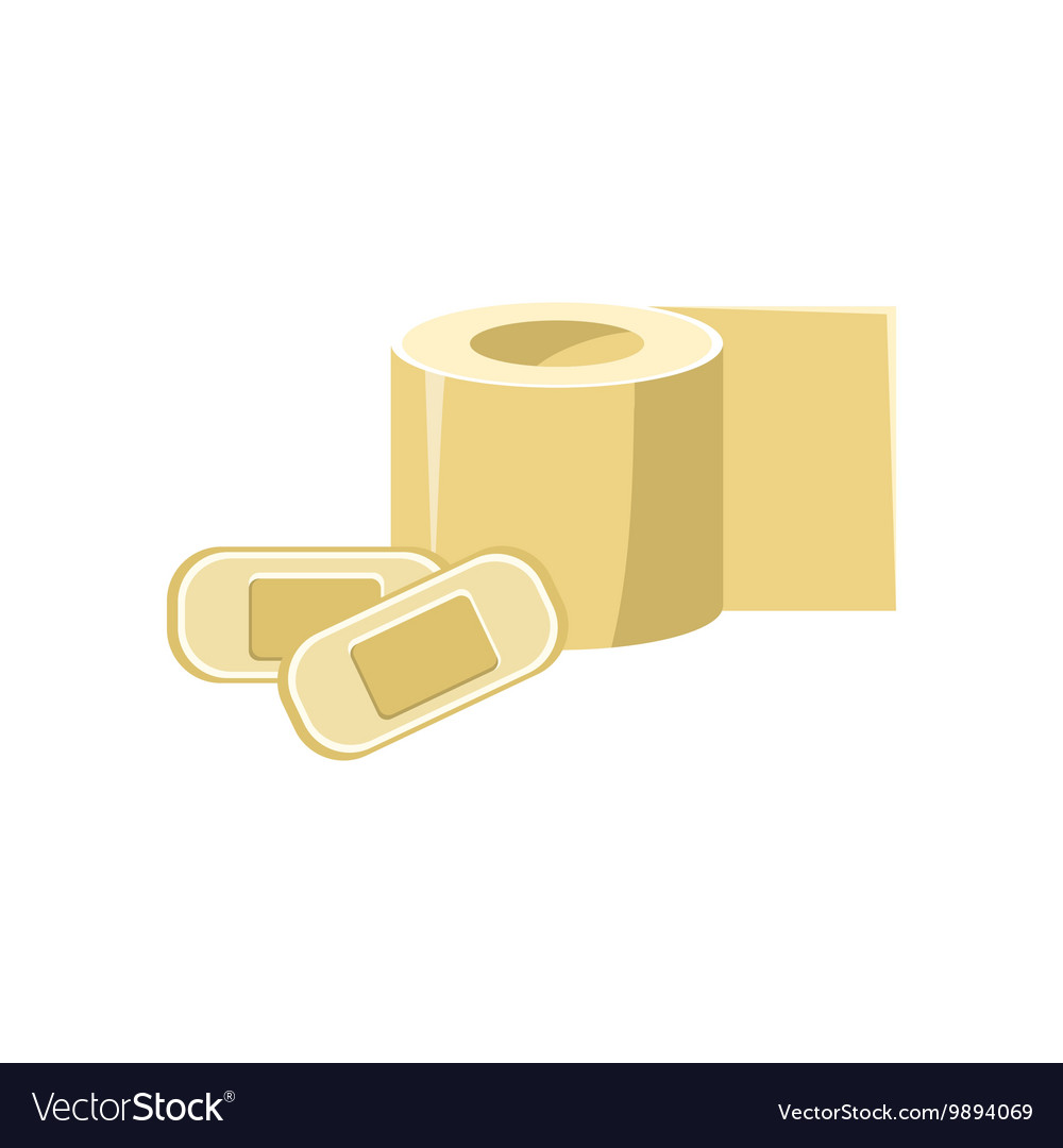 Toilet Paper And Band-aids Simplified Icon
