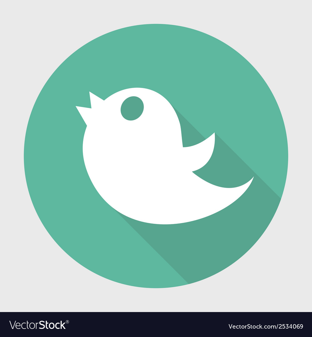 Twitter bird social media web internet icon with