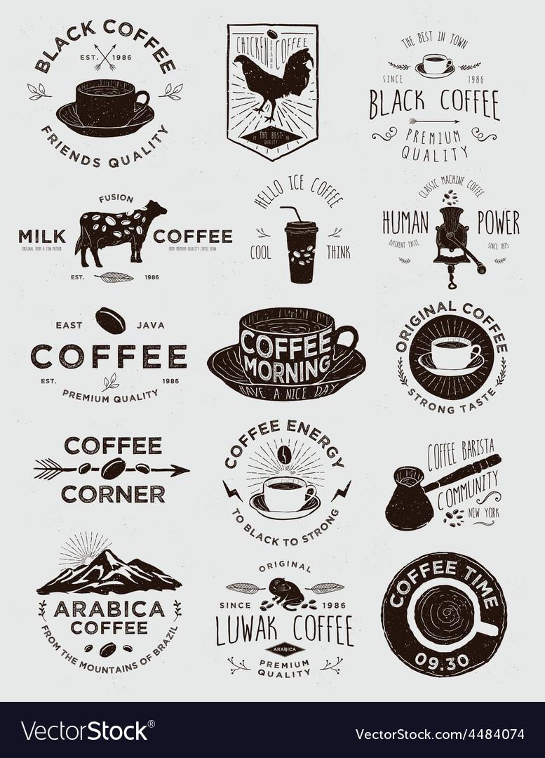 15 Coffee Vintage Badges