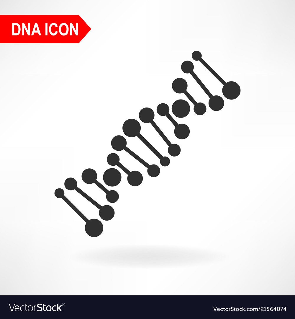 A simple dna molecule icon on a white background