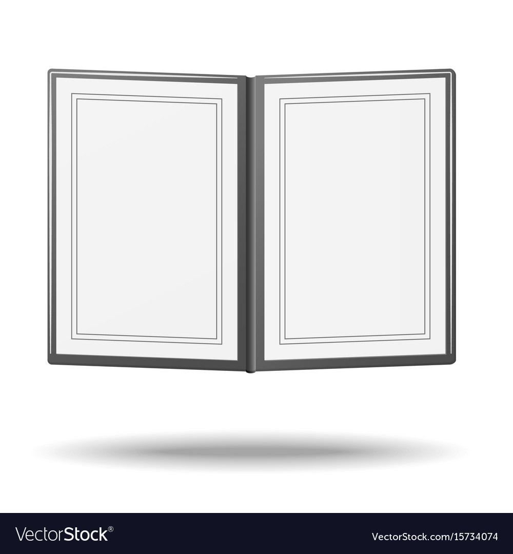 Blank classic restaurant menu with copy space vector image