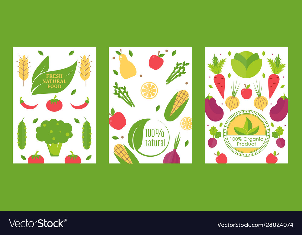 Fresh natural food organic product banner