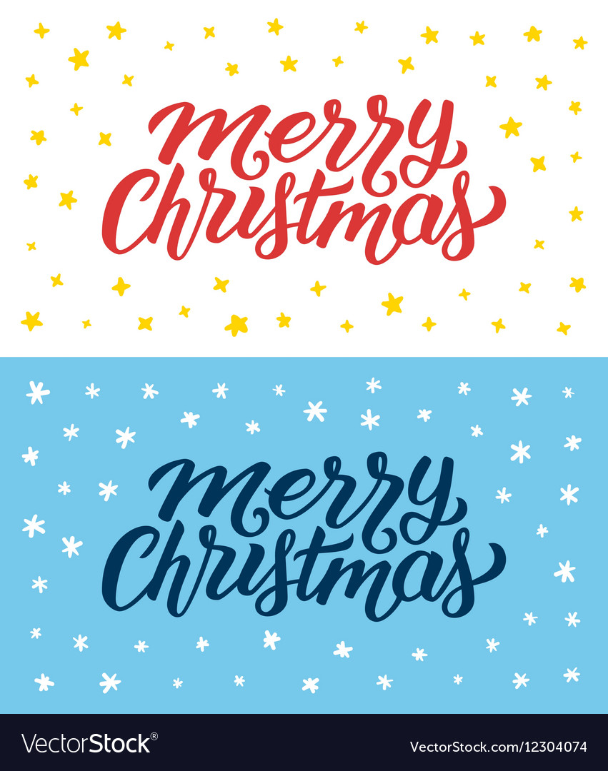 Merry Christmas retro flat style greeting cards